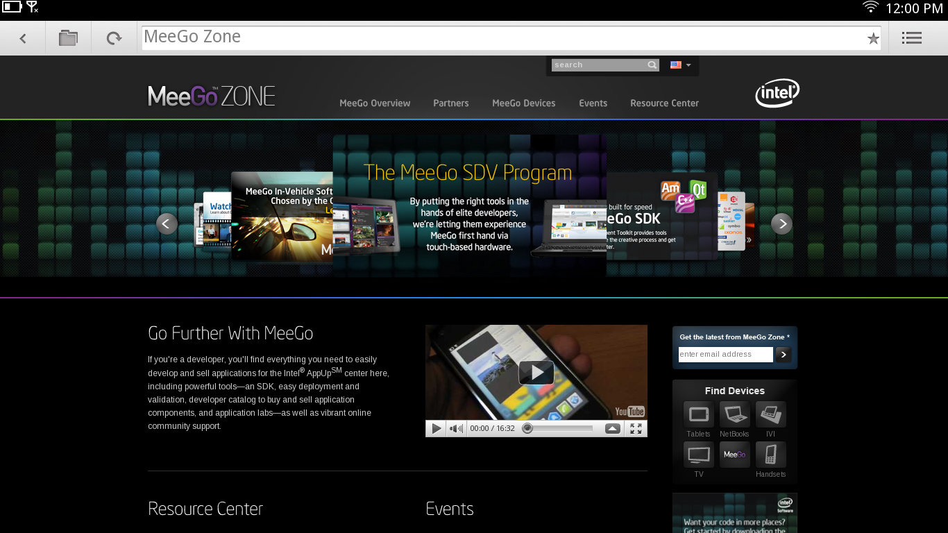 MeeGo-v1.2-Oberfläche für Tablet-PCs