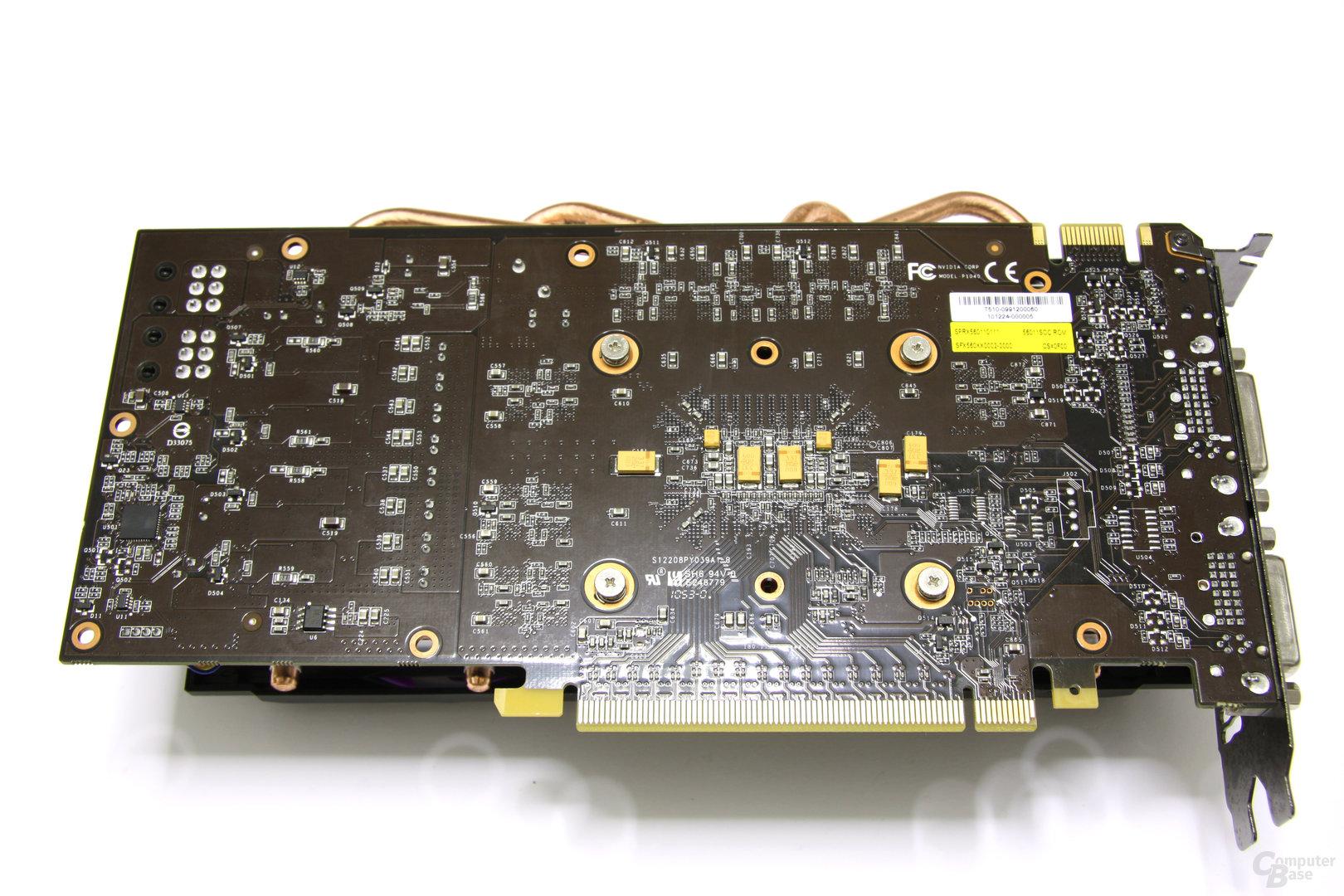 Calibre GTX 560 Super OC Rückseite