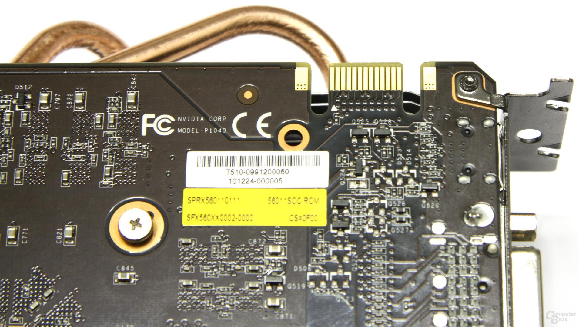 Calibre GTX 560 Super OC SLI-Anschluss