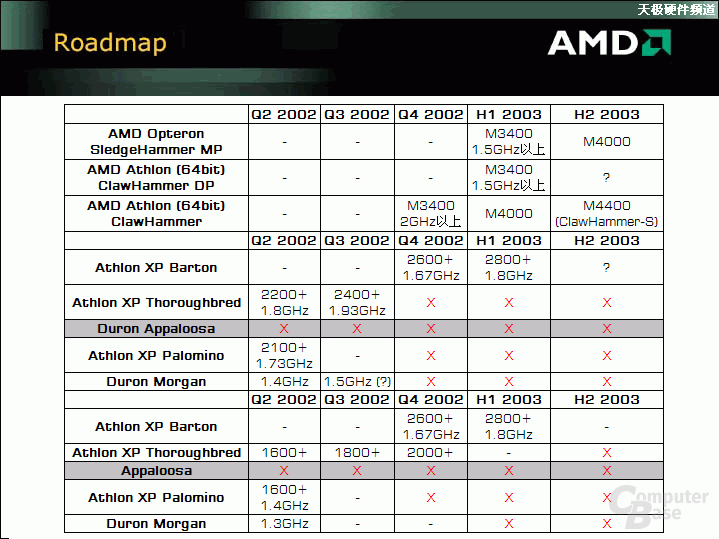 AMD Roadmap ?