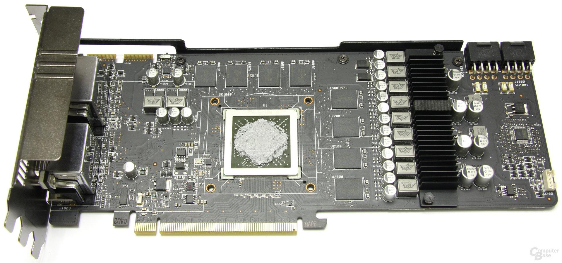 Radeon HD 6970 DirectCU II ohne Kühler