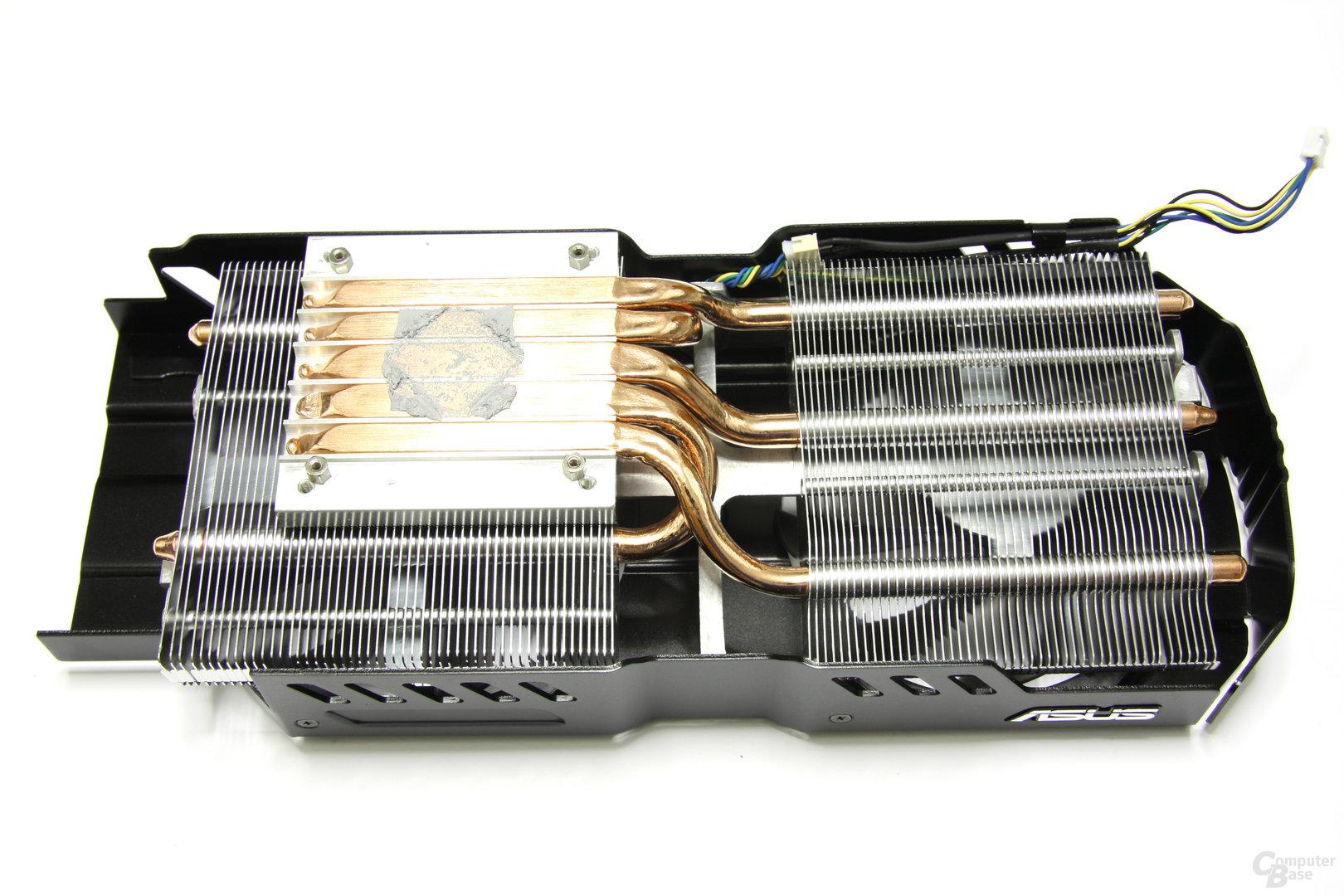 Radeon HD 6970 DirectCU II Kühlerrückseite