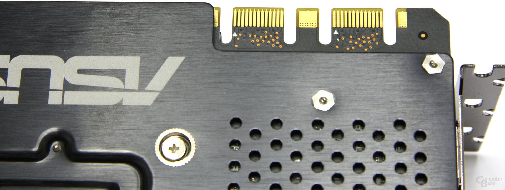 GeForce GTX 570 DirectCU II SLI-Anschlüsse