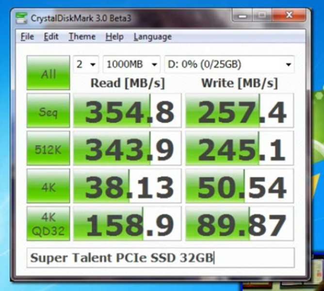 Super Talent CoreStore PCIe SSD 32 GB (SLC)