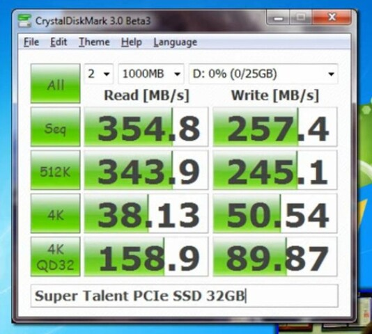Super Talent CoreStore PCIe SSD 32 GB (SLC)