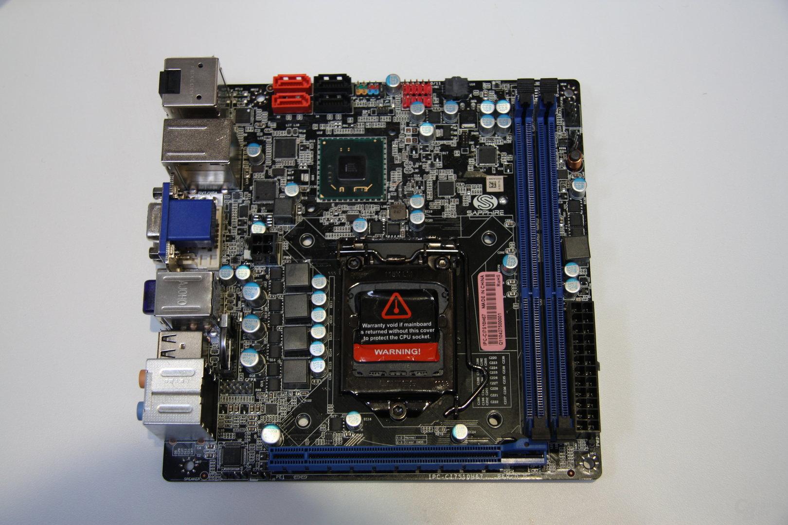 Sapphire mit Z68- und H67-ITX-Board