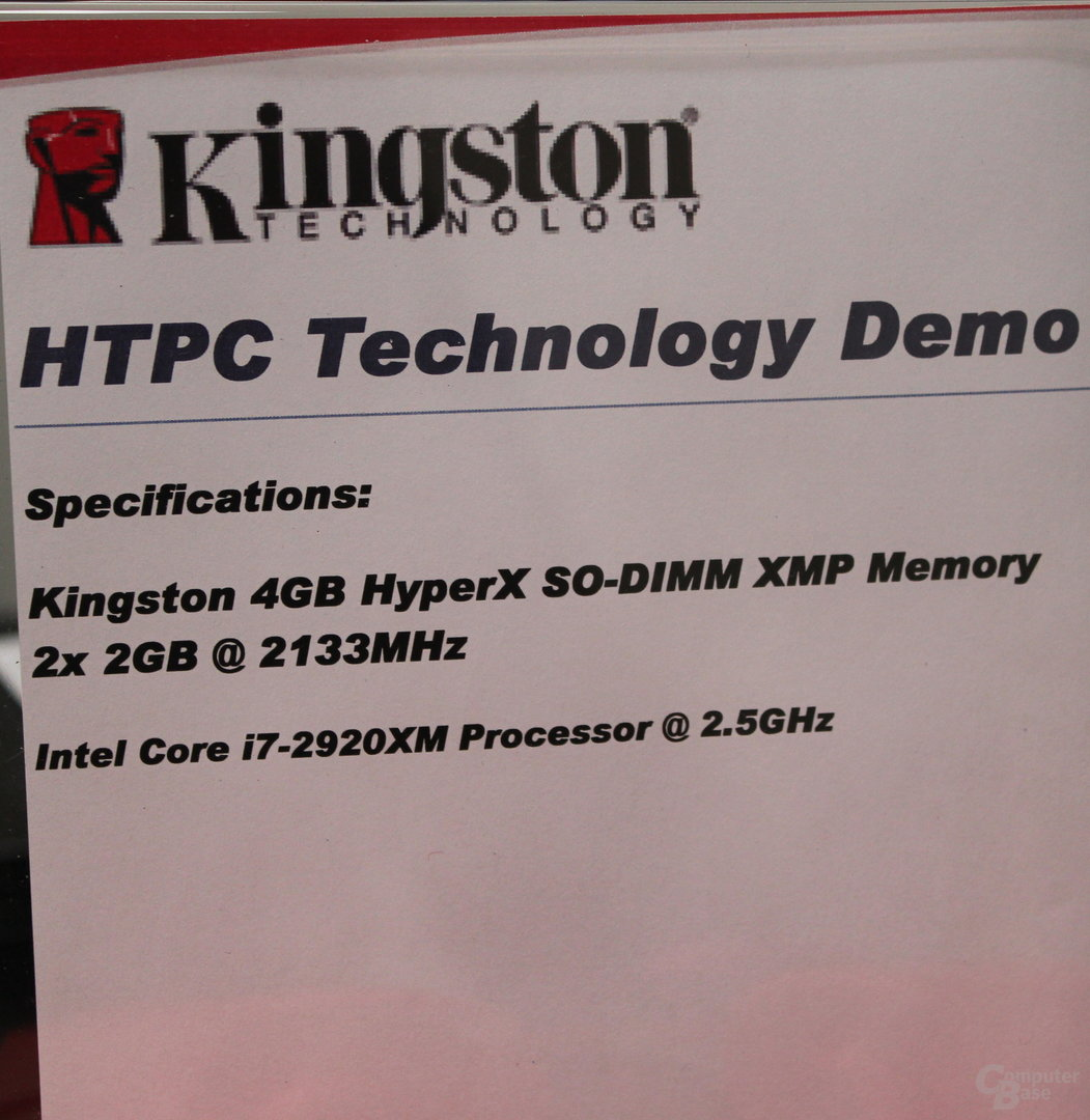 Kingston DDR3-SO-DIMM mit 2133 MHz