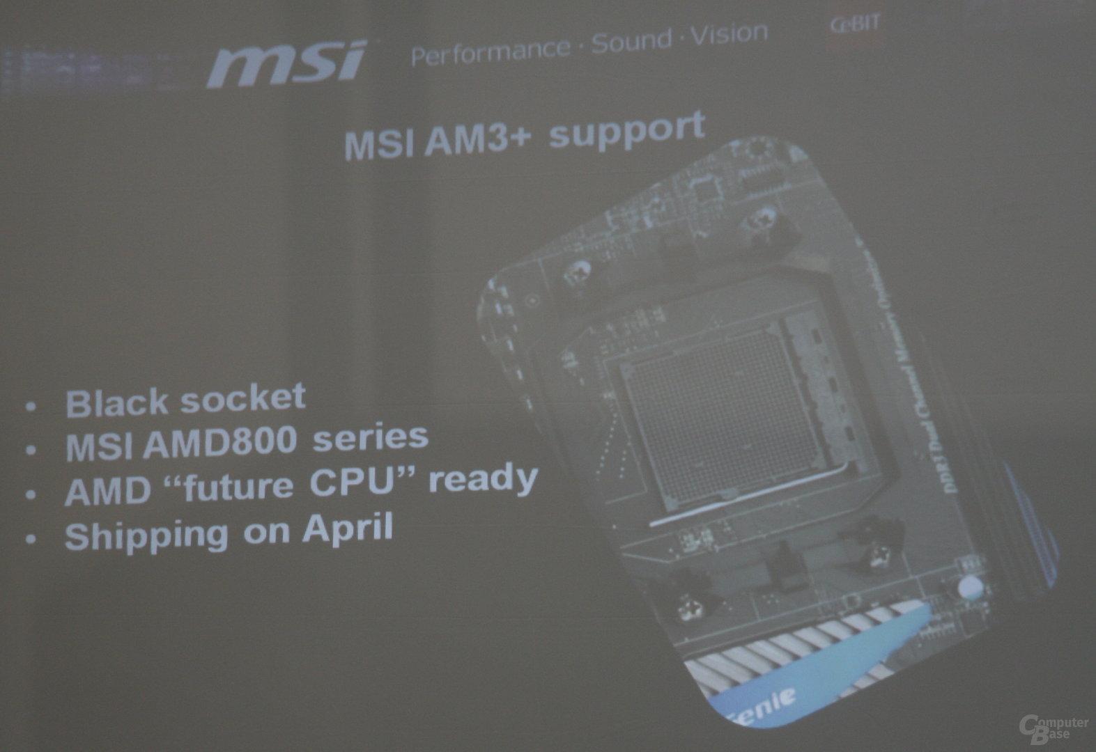 MSI-Mainboards mit Sockel AM3+ ab April