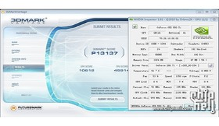 GTX 550 Ti mit 970 MHz im 3DMark Vantage