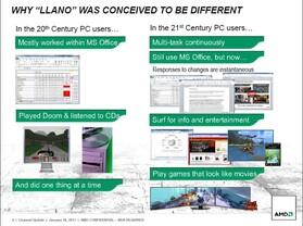 """AMD: """"Llano designed for Multi-Tasking"""""""
