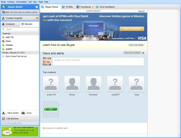 Werbebanner in Skype