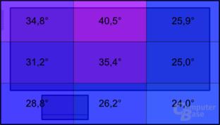"""Temperatur an der Oberseite unter Last: MacBook Pro 17"""" (2011)"""