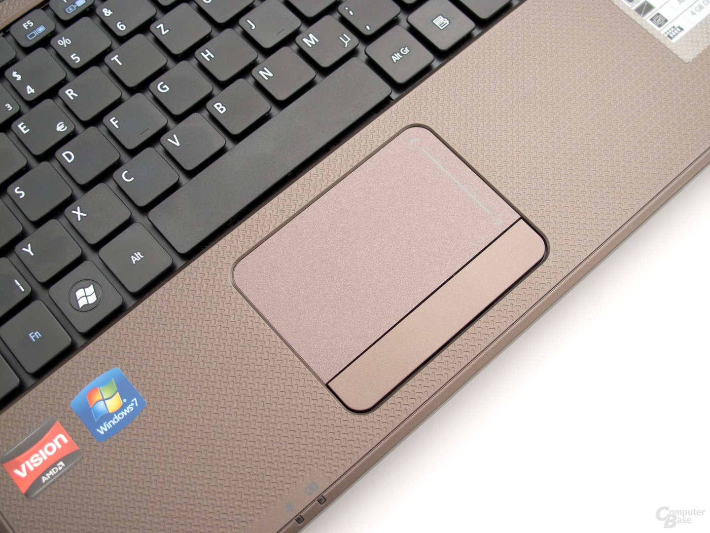 Acer Aspire 5253: Touchpad