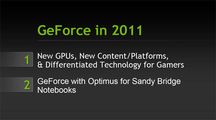 Nvidias GeForce im Jahr 2011