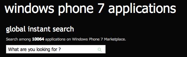 10.000 Apps im Windows Phone Marketplace
