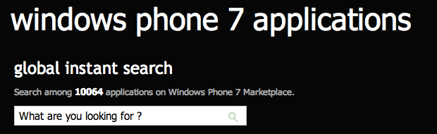10.000 Apps im Windows Phone Marketplace