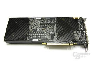 GeForce GTX 590 Rückseite