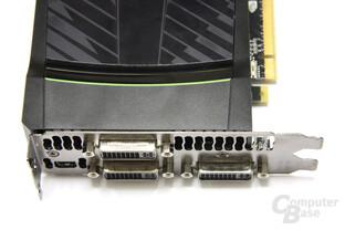 GeForce GTX 590 Anschlüsse