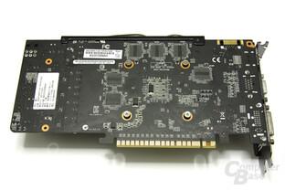 GeForce GTX 550 Ti DirectCU TOP Kartenrückseite