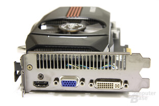 GeForce GTX 550 Ti DirectCU TOP Slotblech