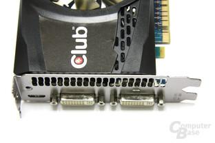 GeForce GTX 550 Ti Cool Stream OC Anschlüsse