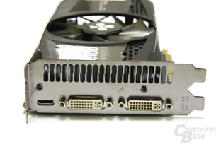 GeForce GTX 550 Ti Cool Stream OC Slotblech