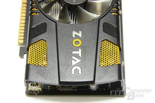 GeForce GTX 550 Ti AMP! von oben