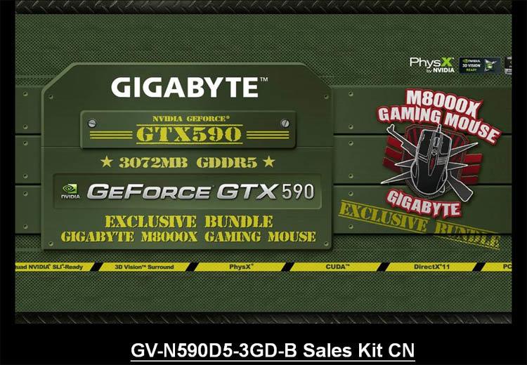 Gigabyte GTX 590 (Bundle mit Maus)