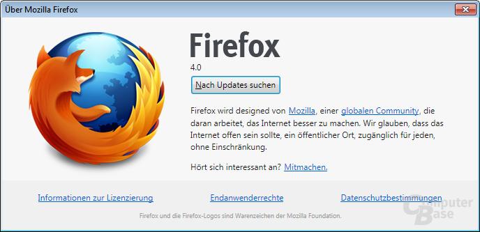 Über Mozilla Firefox 4