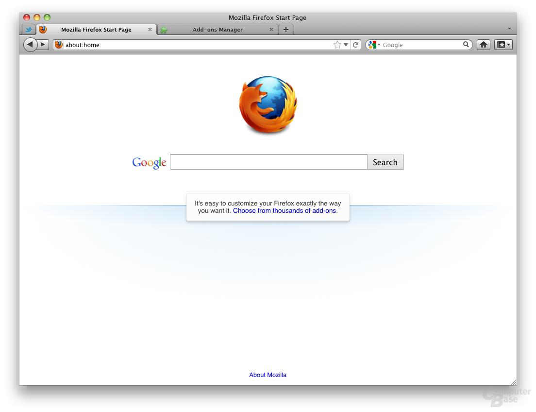 Firefox 4 on Mac