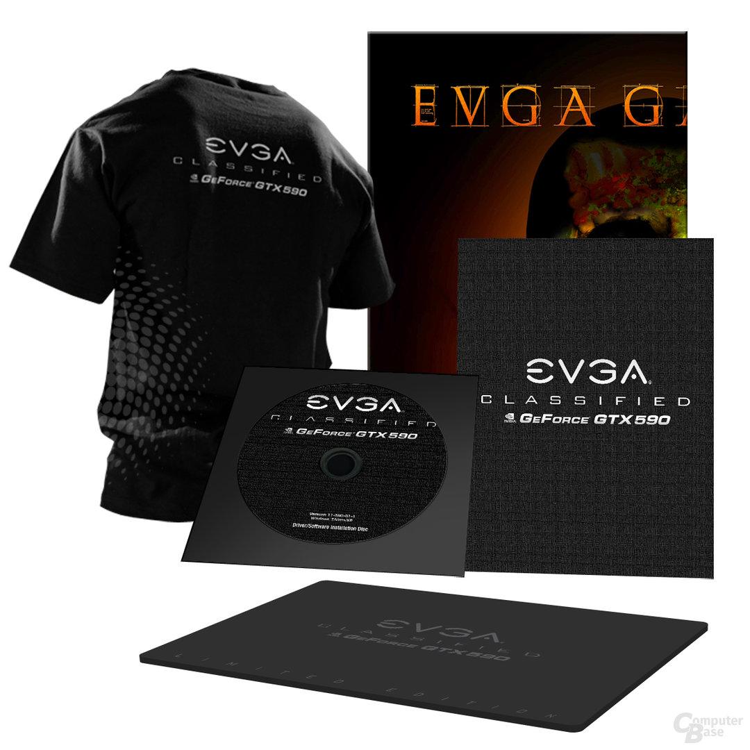 EVGA GeForce GTX 590 Classified Hydro Copper Dual Pack