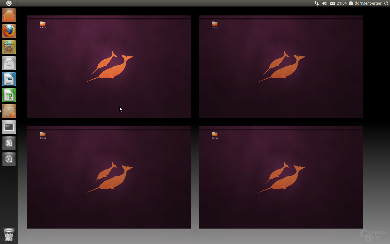 Ubuntu 11.04 Beta 1 – Arbeitsflächen