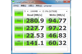 Intel SSD 320 Series 80 GB: CrystalDiskMark