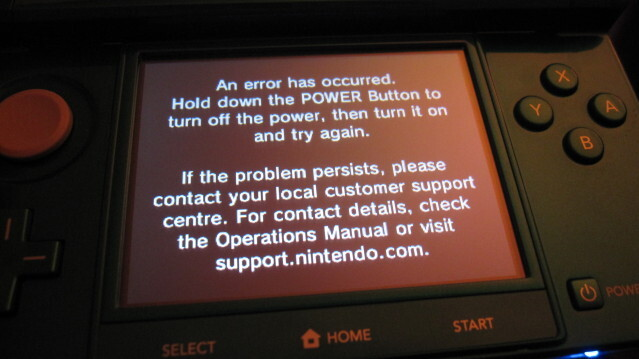 "Nintendo 3DS: ""Black Screen of Death"""