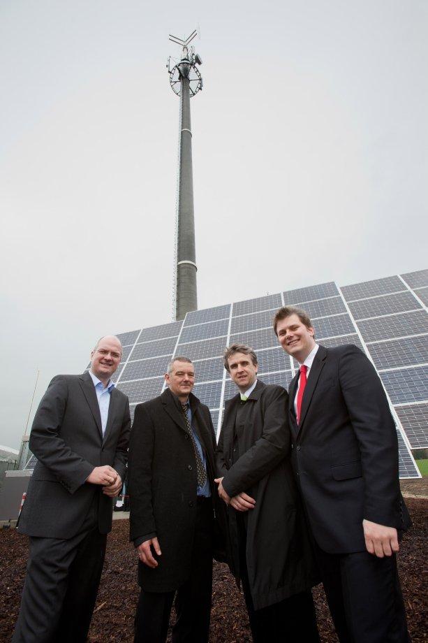 Energieautarke Mobilfunk-Basisstation in Versmold