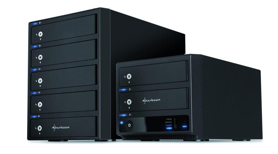 Sharkoon 2-Bay und 5-Bay RAID Box