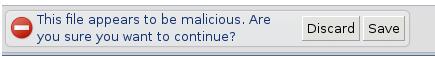 Google Chrome Download-Warnung
