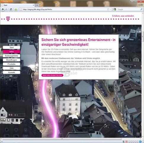 FTTH-Angebot der Deutschen Telekom