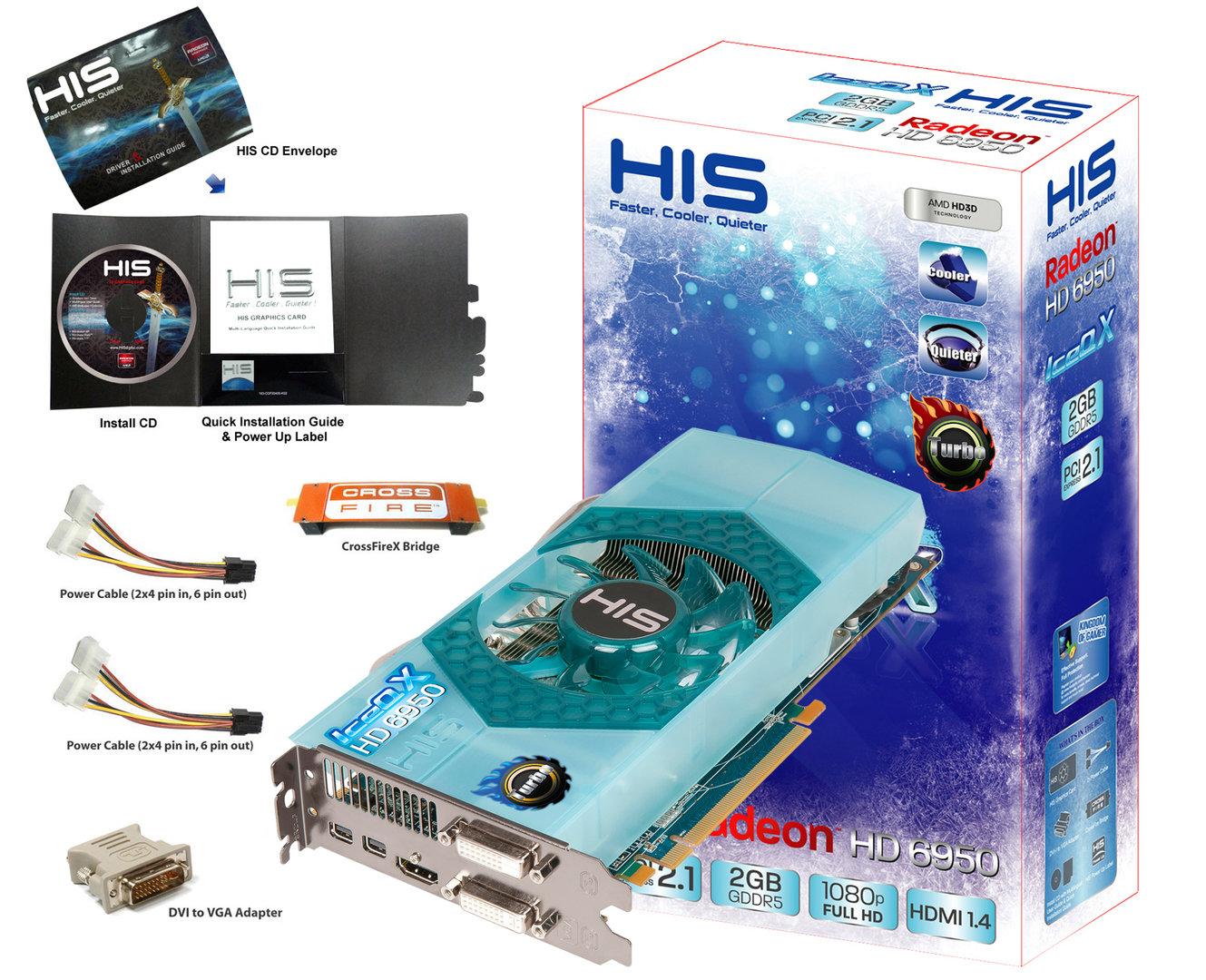 HIS 6950 IceQ X Turbo 1GB/2GB