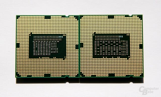 links Dual-Core-Modell, rechts Quad-Core-Variante