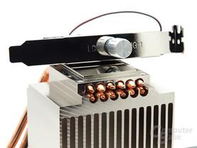 Drehpotentiometer und Heatpipeebenen