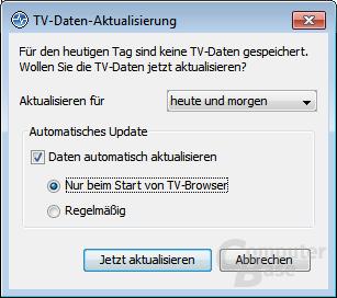 TV-Daten – Aktualisierung