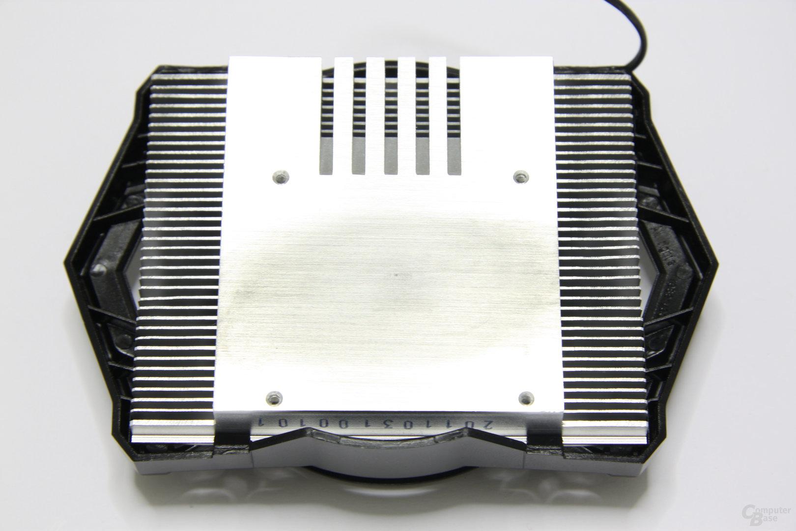 Radeon HD 6570 Kühlerrückseite