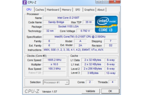 Intel Core i3-2100T undervoltet im Idle