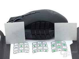 Sticker können die Handhabung der Daumentasten erleichtern