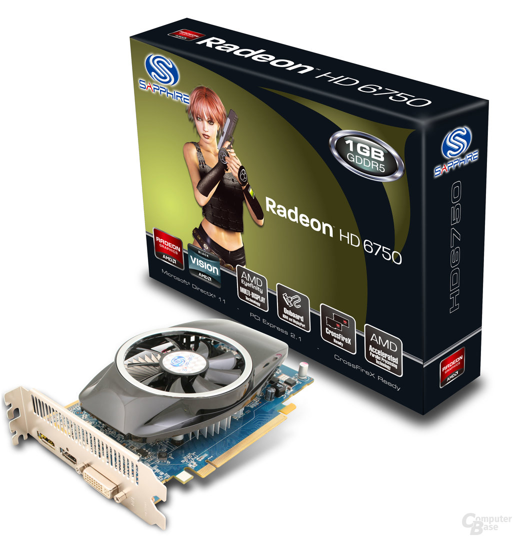 Sapphire Radeon HD 6750 1 GB GDDR5