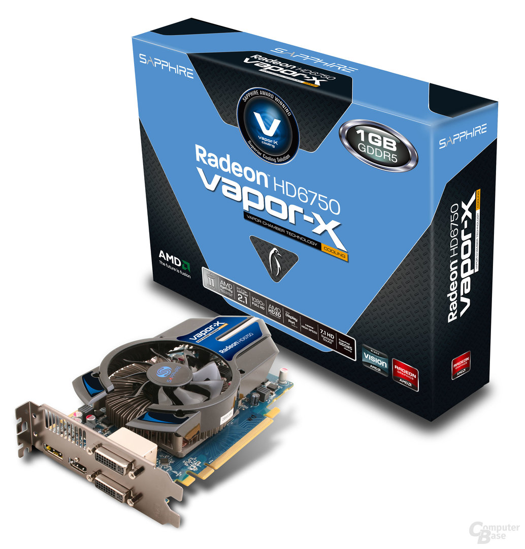 Sapphire Radeon HD 6750 Vapor-X 1 GB GDDR5