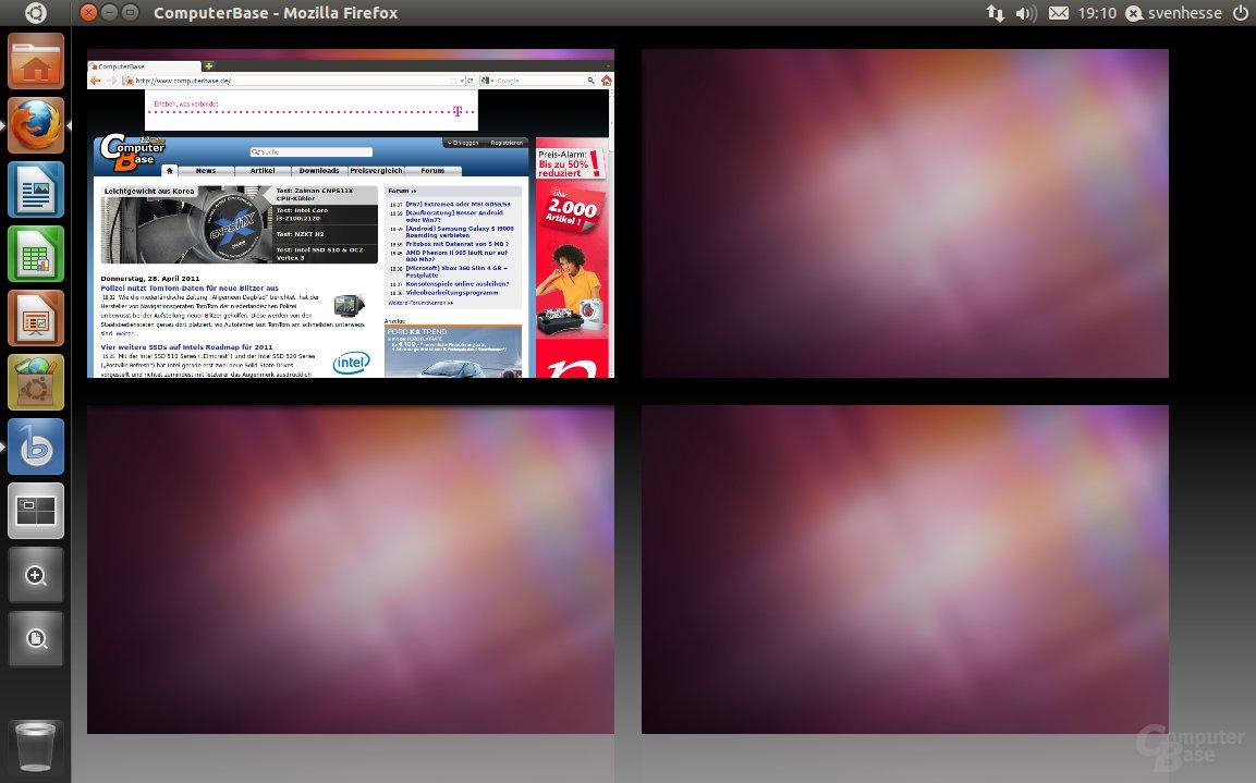 Ubuntu 11.04 – Arbeitsflächen