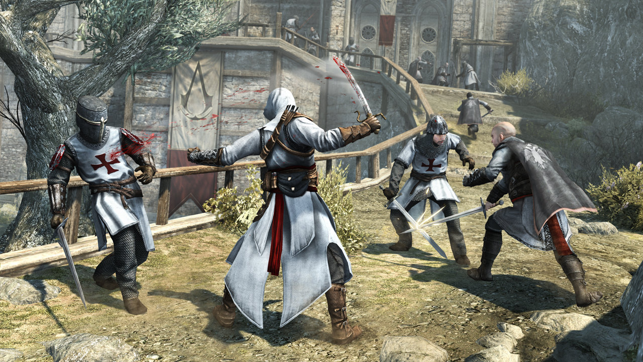 Altair Combat In Masyaf Fortress