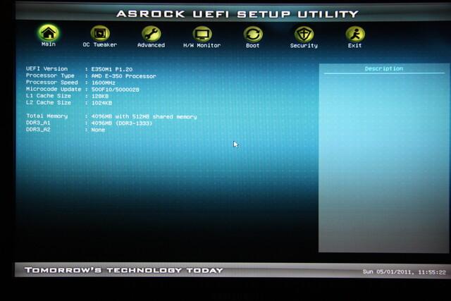 ASRock E350M1 – UEFI